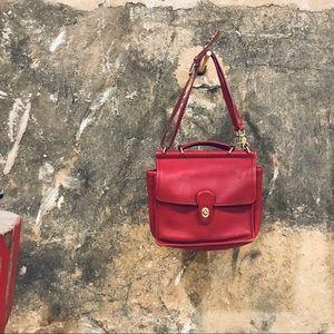 Coach vintage red Willis crossbody shoulder bag